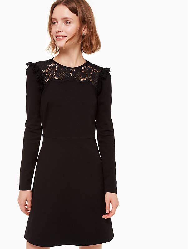 Lace Yoke Ponte Dress