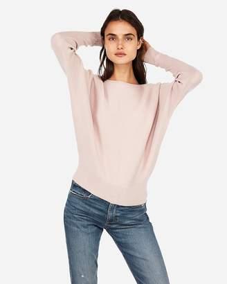 Express Horizontal Ribbed Dolman Sleeve Sweater