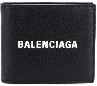 Balenciaga logo bifold wallet