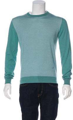 Isaia Embroidered Logo Cashmere & Silk Sweater