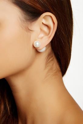 Fancy Double Sided 12-14mm Shell Pearl Earrings $18.97 thestylecure.com