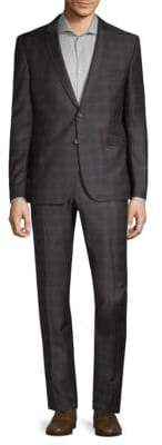 Strellson Vince Madden Plaid Wool Suit