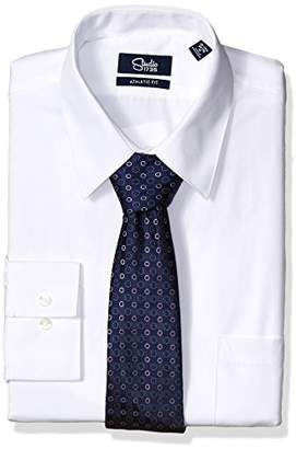 Studio 1735 Mens Dress Shirts and Tie Combo Dot Tie Athletic Fit