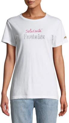 Bella Freud Solidarite Feminine Graphic Crewneck Tee