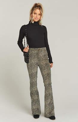 Show Me Your Mumu Trilby Pant ~ Stretch Velveteen Leopard