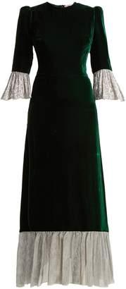 THE VAMPIRE'S WIFE Festival crushed-velvet dress