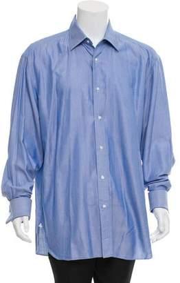 Borrelli Woven French Cuff Shirt