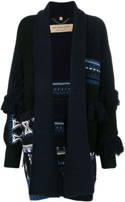Burberry oversized tassel cardigan