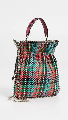 Les Petits Joueurs Trilly Metal Piping Woven Tartan Bag
