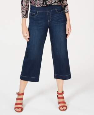 Style&Co. Style & Co Wide-Leg Cropped Pull-On Jeans, Created for Macy's