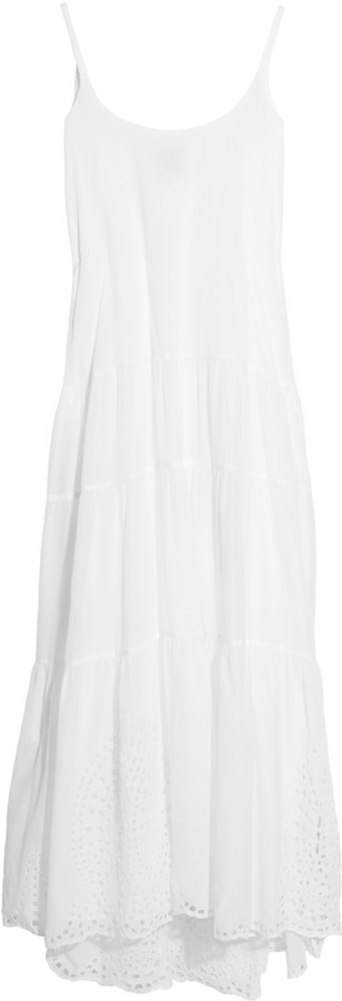 Issa Eyelet-embroidered cotton-voile maxi dress