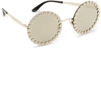 Dolce & Gabbana Daisy Round Sunglasses $650 thestylecure.com