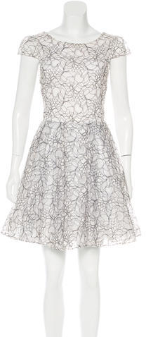 Alice + OliviaAlice + Olivia Lace A-Line Dress