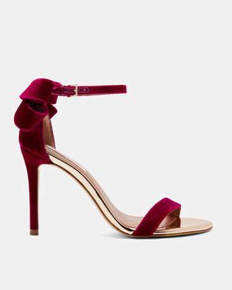 Ted Baker SANDALV Statement bow velvet sandals