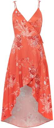 MinkPink Mink Pink Thin straps v neck wrap dress