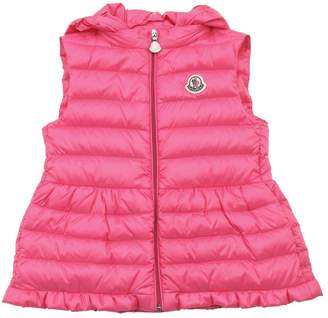 Moncler Cheramette Hooded Nylon Down Vest