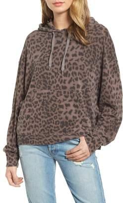 Sundry Leopard Spot Crop Hoodie