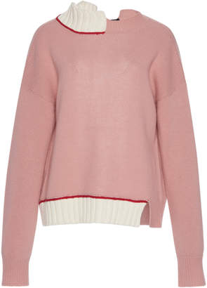 Marni Long-Sleeve Wool-Cotton Turtleneck Sweater