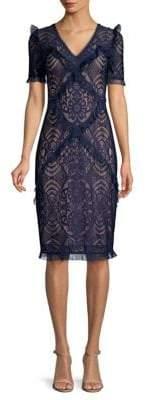 BCBGMAXAZRIA Stretch Lace Sheath Dress