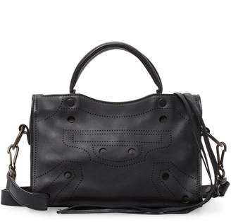 Balenciaga Blackout City Nano Perforated Leather Shoulder Bag