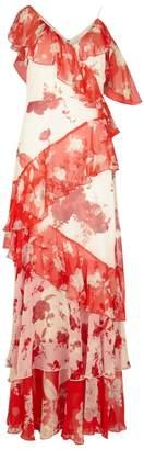 Alice + Olivia Olympia Ruffled-trimmed Silk Maxi Dress