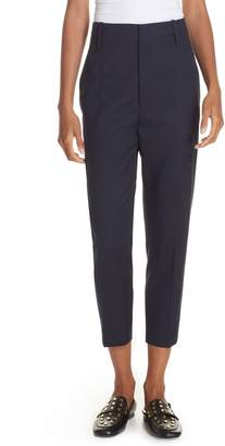 Etoile Isabel Marant Noah Tapered Wool Crop Pants