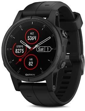 Garmin fenix®5S Plus Sapphire Premium Multisport GPS Black Smartwatch, 42mm