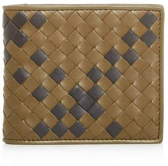 Bottega Veneta Tartan Leather Bi-Fold Wallet
