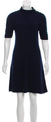 Tory Burch Wool Short Sleeve Knee-Length Dress