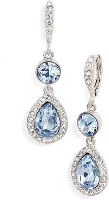 Givenchy Pave Crystal Drop Earrings