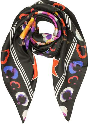 Givenchy 74 Floral Print Silk Square Scarf