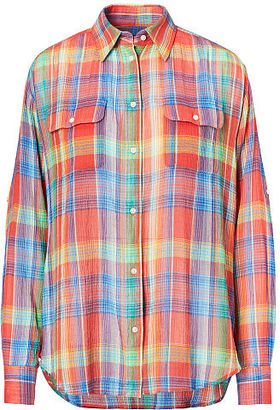 Ralph Lauren Plaid Crinkled Cotton Shirt $89.50 thestylecure.com
