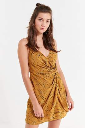 Urban Outfitters Ring Leader Wrap Mini Dress