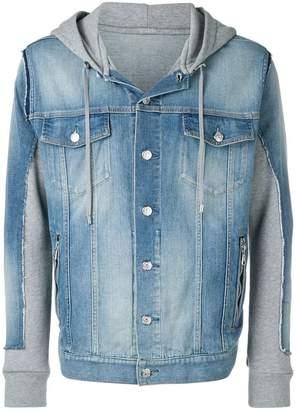 Balmain hooded denim jacket