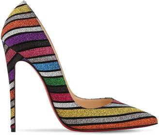Christian Louboutin 120MM SO KATE GLITTERED SUEDE PUMPS