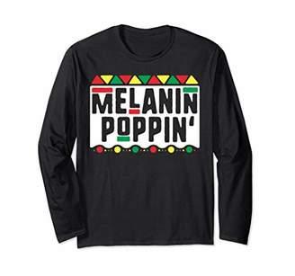 Melanin Poppin Long Sleeve Shirt History Month Tribal