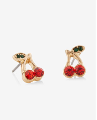 Express Cherry Stud Earrings $12.90 thestylecure.com