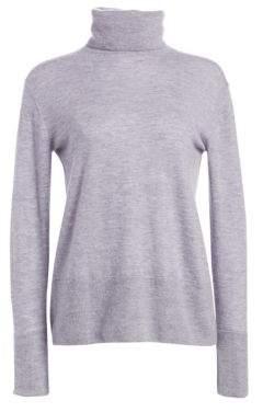 3.1 Phillip Lim Women's Button-Back Cashmere Turtleneck Sweater - Smoke Blue - Size XS