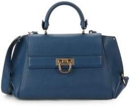 Salvatore Ferragamo Small Grained Leather Tote Shoulder Bag
