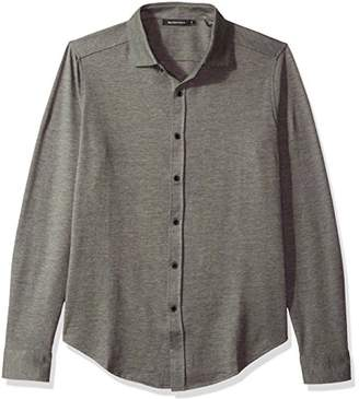 Bugatchi Men's Full Button Down Classic Fit Long Sleeve Solid Knit Shirt