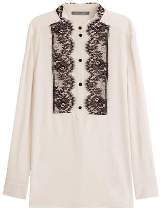 Alberta Ferretti Silk Tunic with Lace