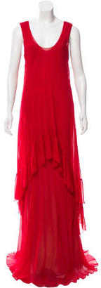 Vera Wang Silk Maxi Dress $195 thestylecure.com