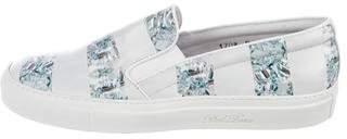 Del Toro x Moda Operandi Leather Slip-On Sneakers