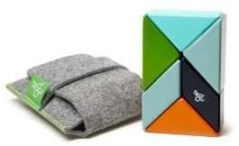 6-Piece Pocket Pouch Prism Magnetic Wooden Block Set