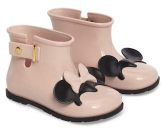 Mini Melissa Sugar Rain Disney Twins Waterproof Bootie (Walker & Toddler)