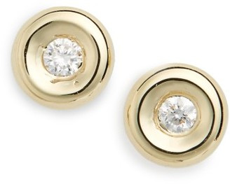 Women's Roberto Coin Tiny Treasures Diamond Stud Earrings $500 thestylecure.com