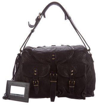 Balenciaga Gained Leather Shoulder Bag