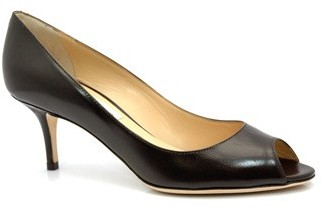 """Jimmy Choo Isabel"""" Brown Leather Pumps"""