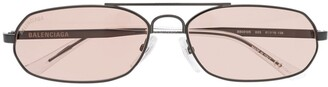 Balenciaga Eyewear top bar narrow sunglasses