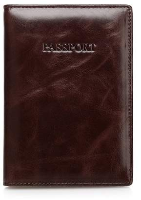 Vicenzo Leather Venice Distressed Leather Passport Case